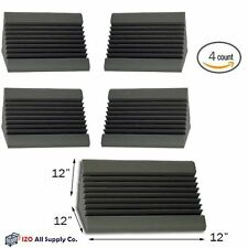 "Acoustic Foam Bass Trap (Charcoal) Corner Wall 12"" X 12"" X 12"" 4 PACK"
