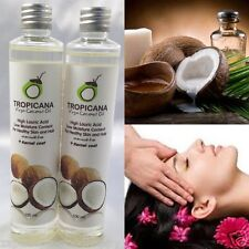 2x100ml TROPICANA PURE COCONUT OIL ORGANIC FOR HEALTHY SKIN HAIR SPA