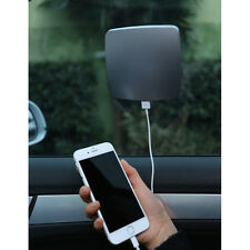 NEW Portable Gray Solar Phone Charger - 2600mAh Window Cling Car Power Bank