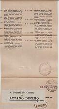 #RSI- 1944 DA UDINE (CONSIGLIO PROV.) AD AZZANO DECIMO- CESSAZIONE ATTIVITA'
