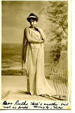 Lady-Flowing Grecian Dress-Tuck Types of Beauty RPPC-Vintage Real Photo Postcard