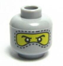 LEGO - Minifig, Head Balaclava with Eyes Hole & Stitching Trim - Lt Gray
