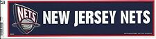 NEW JERSEY NETS NBA LICENSED BUMPER STICKER NEW