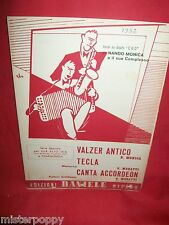 NANDO MONICA Valzer antico + Tecla + Canta Accordeon 1952 Spartiti