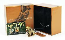 """Jay Strongwater leopard charm """"Mara"""" color amber brand new in the box"""