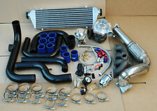 HONDA CIVIC D15 D16 D SERIES TURBO KIT BLACK INTERCOOLER+PIPING+BOOST GAUGE+BOV