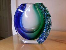 Alessandro Mandruzzato Murano Glass Vase Blue Green. Brilliant condition. The va