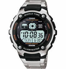 Casio Original New AE-2000WD Diver Mens Watch Silver Stainless Steel AE-2000