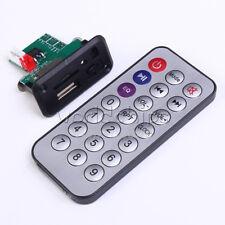 5V 12V Mini MP3 Decoder Board USB TF Reader+IR Remote Controller Player for Car
