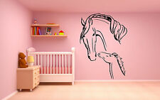 Wall Room Decor Vinyl Sticker Mural Decal Nursery Girl Horse Pony Gift Art F2208