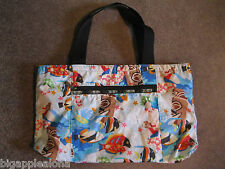 LESPORTSAC HAWAII 'UKULELE' PRINT REVERSIBLE PRINT TOTE BAG, FINE PRE-OWNED