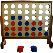 "Yard Games Giant 4 In A Row Game 31"" x 23"" Wooden Board Outdoor Family Sports"