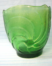 EO Brody Co. Holiday Green Glass Tulip Shape Vintage Vase