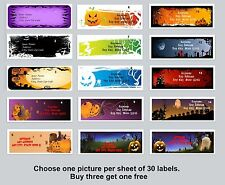 30 Personalized Return Address labels Halloween Buy 3 get 1 free {ha5}