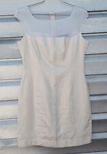 MAX MARA SPORTMAX Ivory White Sheer Linen Silk Sheath Dress RARE!!