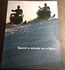 VINTAGE 1973? MERCURY SNOWMOBILE SALES BROCHURE 6 PAGE FULL LINE  (920)