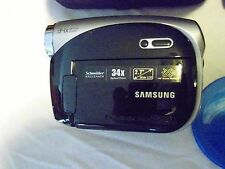Samsung SC-DX103 Camcorder Silver/Black Bundle Carry Bag, SD Card, Disc and More