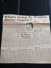 Ephemera 1945 Newspaper Article Jimmy James Cagney Whats Going To Happen  M57