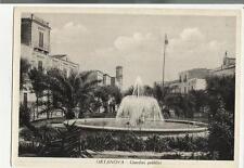 ortanova giardni pubblici vecchia cartolina spedita
