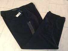 NWT POLO RALPH LAUREN MENS BLACK CLASSIC FIT CHINOS PANTS FLAT FRONT 48B/34 $98