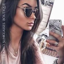 Oro Negro Con Espejo Reflectante Aviador Gafas De Sol Celebridad Diseñador marbs Ibiza