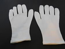 TRUE BLUE SPA LADIES WHITE STRETCH  COTTON GLOVES UNLINED SIZEONE SIZE FITS MOST