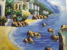 mediterranean view sea large oil painting canvas ocean greece spain italy art