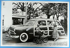 """12 By 18"""" Black & White Picture 1949 Ford Woody Station Wagon"""