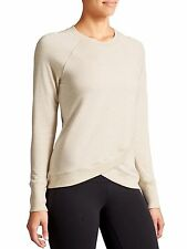 NWT Athleta Criss Cross Sweatshirt Oatmeal Heather Size L       #489051