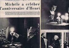 Coupure de presse Clipping 1957 Michèle Morgan & Henri Vidal  (4 pages)