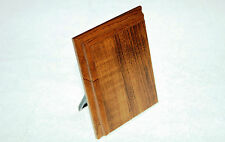 Bevelled Blank Wood Plaque Plinth Wall or Desk Display with Stand 102mm x 75mm