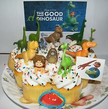 Disney The Good Dinosaur Movie Cake Toppers Set of 14 Figures, Tattoo and Ring!