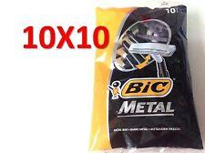 100 BIC METAL Mens Einwegrasierer (10 Packs of 10 Shavers) Versand kostenfrei