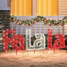 Outdoor Lighted Pre Lit Christmas Song Yard Sign Display Holiday Decoration