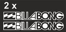 2 x BILLABONG Logo SURF AUTO GRAPHIC JDM VW VAG EURO Vinile Decalcomania adesivo skate
