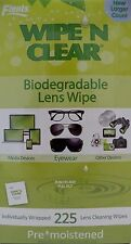 Wipe 'n Clear® Biodegradable Lens Wipes 225 Count
