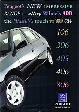 Peugeot Accessory Alloy Wheels 1996 UK Market Sales Brochure 106 306 405 406 806