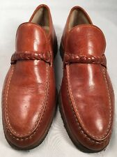 Florsheim Imperial Brown Loafer Style Dress Shoe Size 9D Crepe Sole
