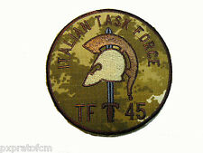 Patch Missione Isaf Italian Task Force TF45 Afghanistan Mimetica Vegetata Desert