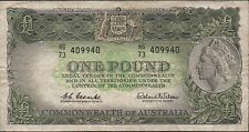 Commonwealth of Australia $1 ND 1960's P 34  Prefix HG/73 Circulated Banknote