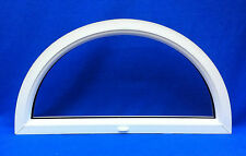 White PVC Arch D Semi Circle Door / Window Top Double Glazed