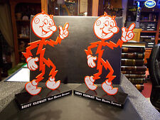 "2 Rare Reddy Kilowatt Display Desk ""Your Electric Servant"" ELECTRICIAN GIFT"