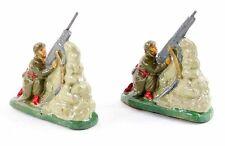 figurines 1930 en PLATRE - 2 MITRAILLEURS AERIENS / jouet ancien