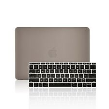 "2 IN 1 GRAY Rubberized Case for Macbook 12"" Retina Model A1534 + Keyboard Cover"