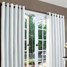 "Thermal Lined Grommet Top Drape Pair 160""W x  84""L Color White 100% Cotton"