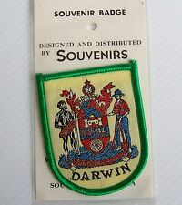 VINTAGE DARWIN NT EMBROIDERED SOUVENIR PATCH WOVEN CLOTH SEW-ON BADGE
