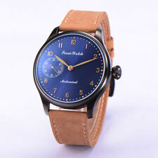 44mm Parnis Hand-winding 6497 Mechanical Mineral Crystal PVD Case Mens Watch 211
