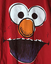 Sesame Street The Muppets Elmo Face Wide Open Mouth Laughing T Shirt L
