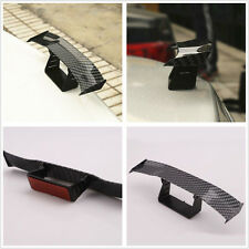Carbon Fiber Surface Car Rear Tail Empennage Spoiler Wing Body Kit Moulding Trim
