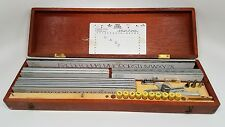 Vintage Wrico Lettering Kit with scribe in Wood Case -  35 Pieces